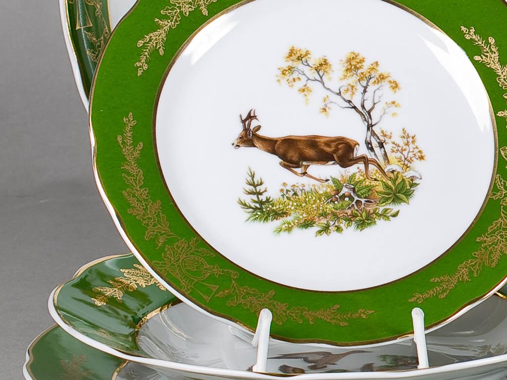 Фото Набор тарелок 18 шт на 6 персон, Форма Мэри-Энн Охотничий изумрудный