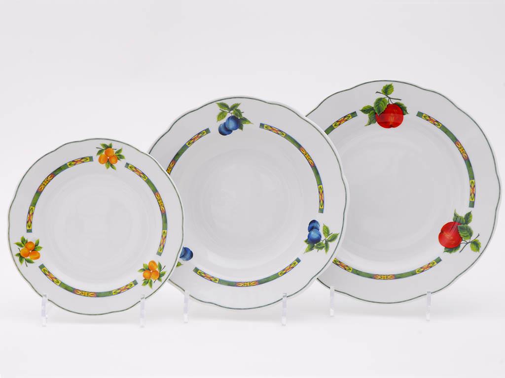 Фото Набор тарелок 18 шт на 6 персон, Форма Мэри-Энн Фрукты