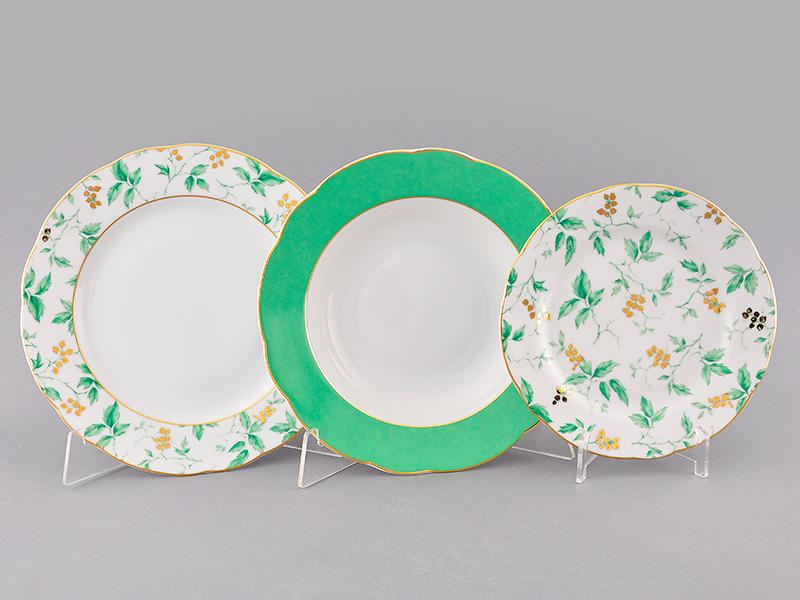 Фото Набор тарелок 18 шт на 6 персон, Форма Мэри-Энн Дикий виноград