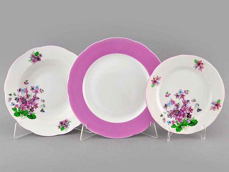 Фото Набор тарелок 18 шт на 6 персон, Форма Мэри-Энн Майская сирень