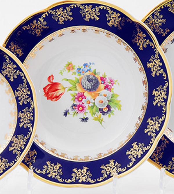 Фото Набор глубоких тарелок 23 см 6 шт, Форма Мэри-Энн Роскошный букет