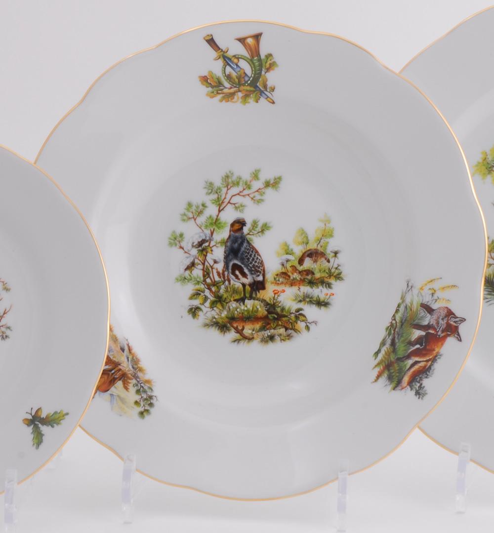 Фото Набор глубоких тарелок 23 см 6 шт, Форма Мэри-Энн Охотничий