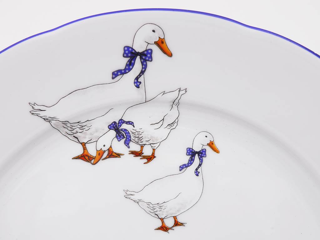Фото Набор глубоких тарелок 23 см 6 шт, Форма Мэри-Энн Чешские гуси