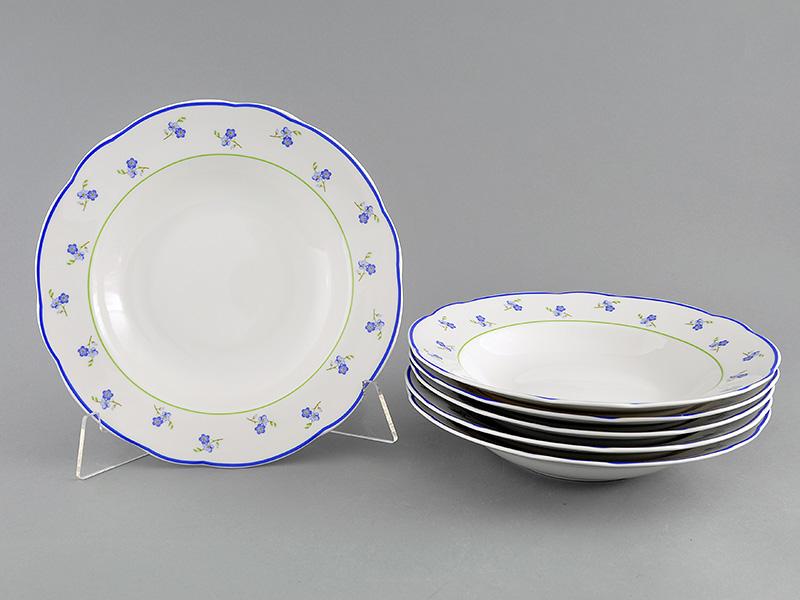 Фото Набор глубоких тарелок 23 см 6 шт, Форма Мэри-Энн Незабудки