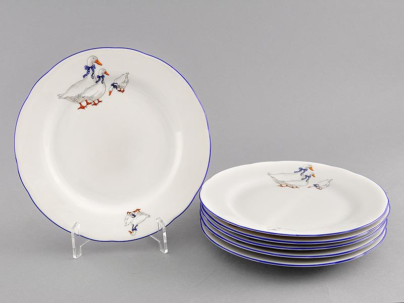 Фото Набор десертных тарелок 17 см 6 шт, Форма Мэри-Энн Чешские гуси