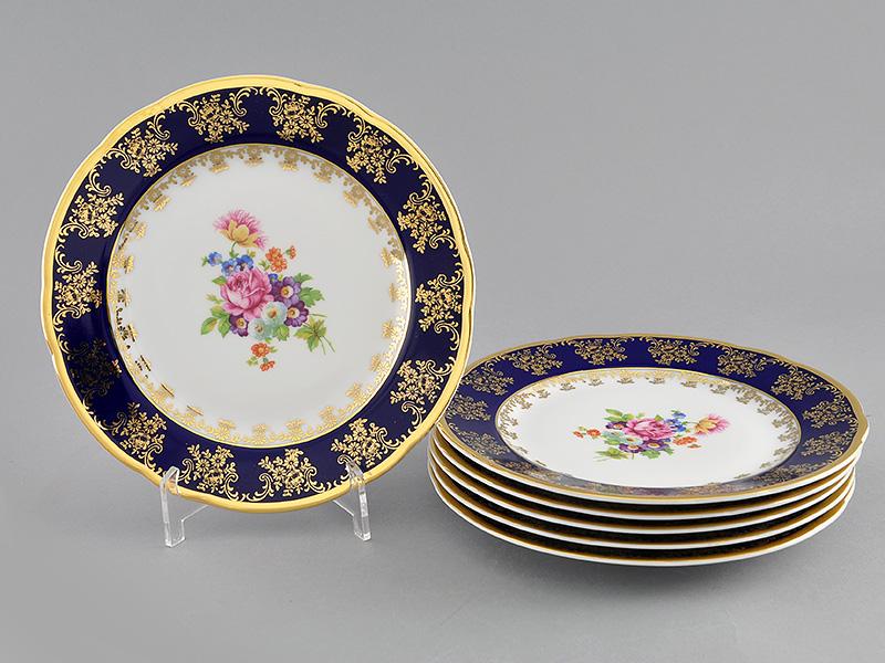 Фото Набор мелких тарелок 19 см 6 шт, Форма Мэри-Энн Роскошный букет