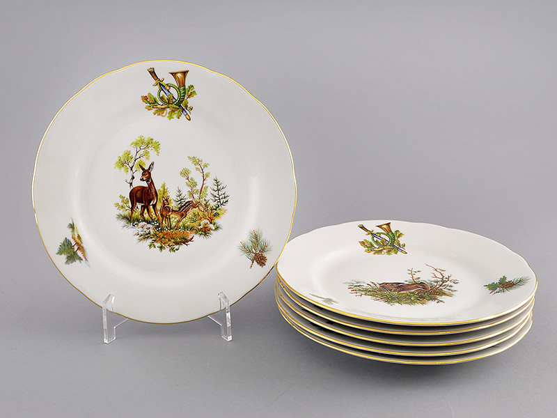 Фото Набор мелких тарелок 19 см 6 шт, Форма Мэри-Энн Охотничий