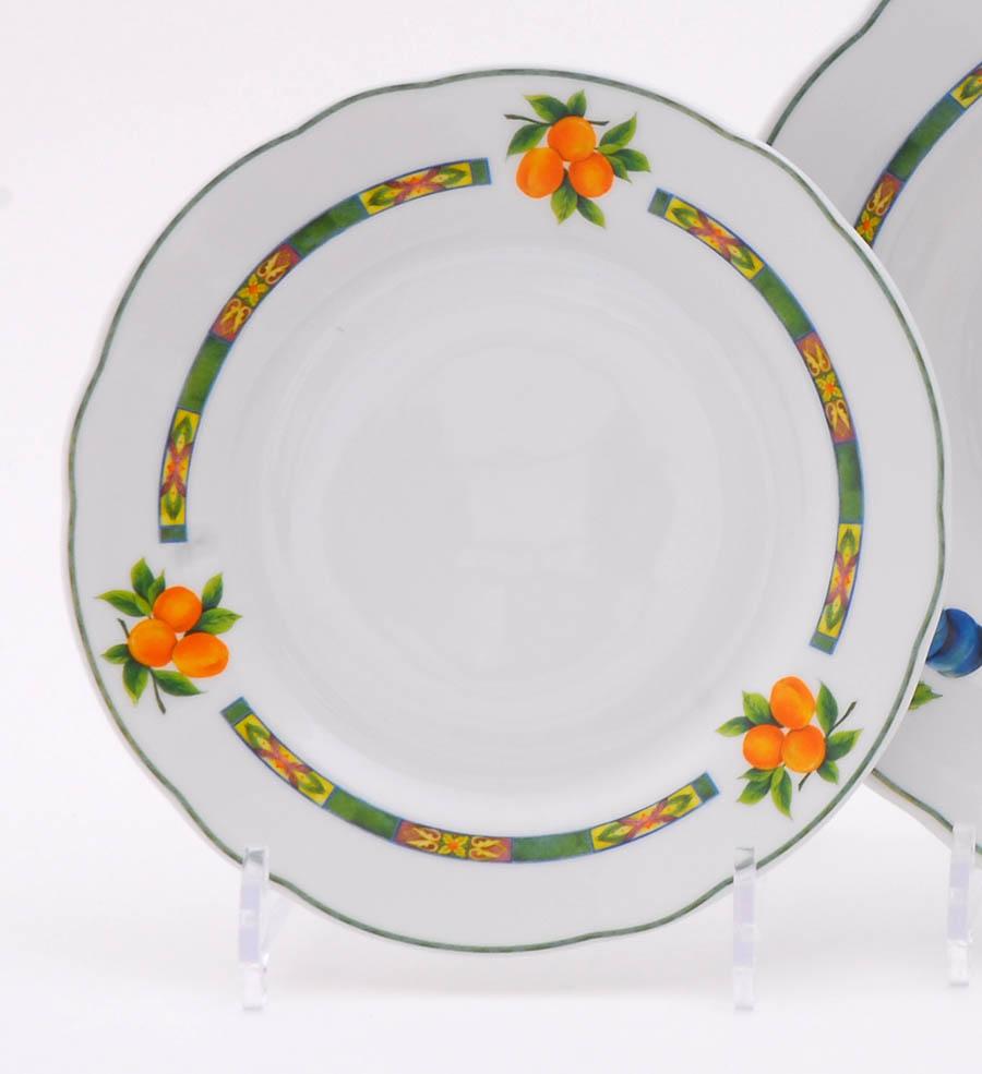 Фото Набор мелких тарелок 19 см 6 шт, Форма Мэри-Энн Фрукты