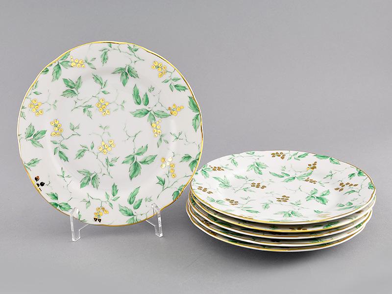 Фото Набор мелких тарелок 19 см 6 шт, Форма Мэри-Энн Дикий виноград