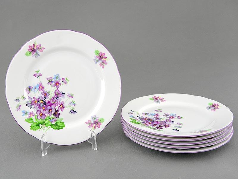 Фото Набор мелких тарелок 19 см 6 шт, Форма Мэри-Энн Майская сирень