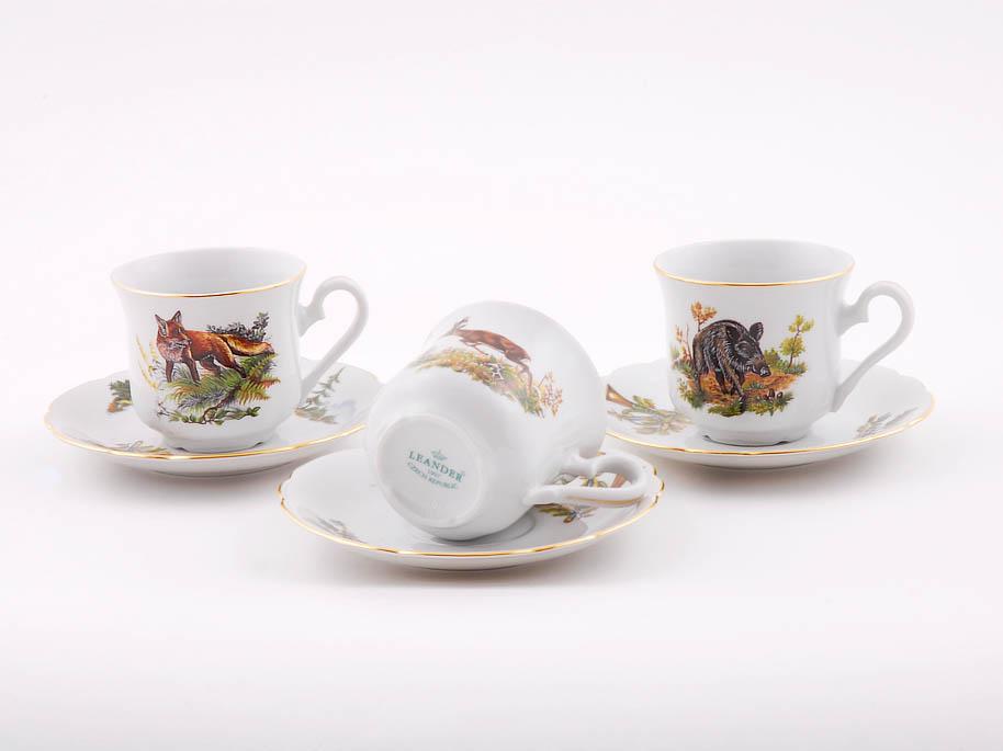 Фото Набор чашек кофейных с блюдцем 150 мл, 6 шт Форма Мэри-Энн Охотничий
