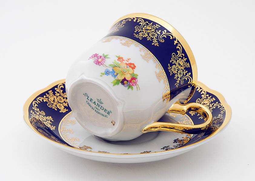 Фото Набор чашек высоких с блюдцем 200 мл, 6 шт Форма Мэри-Энн Роскошный букет
