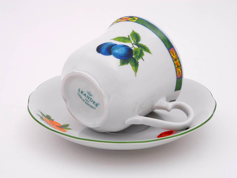 Фото Набор чашек высоких с блюдцем 200 мл, 6 шт Форма Мэри-Энн Фрукты