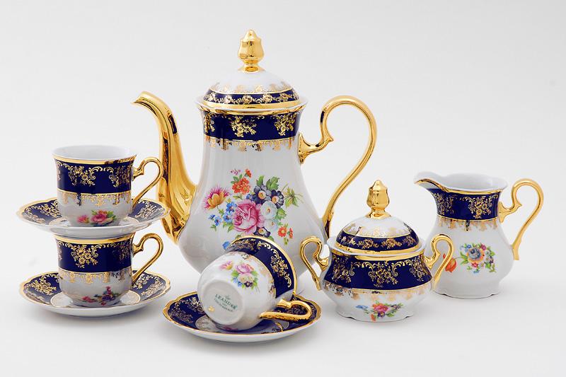 Фото Сервиз кофейный 15 предметов на 6 персон, Форма Мэри-Энн Роскошный букет