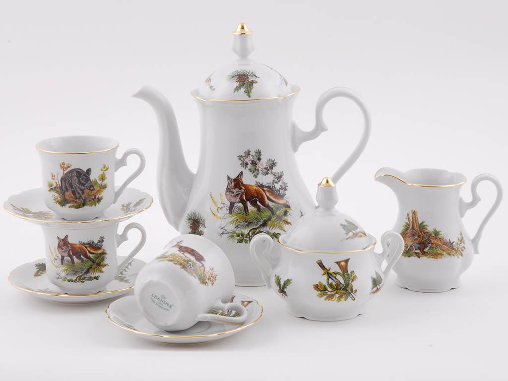 Фото Сервиз кофейный 15 предметов на 6 персон, Форма Мэри-Энн Охотничий