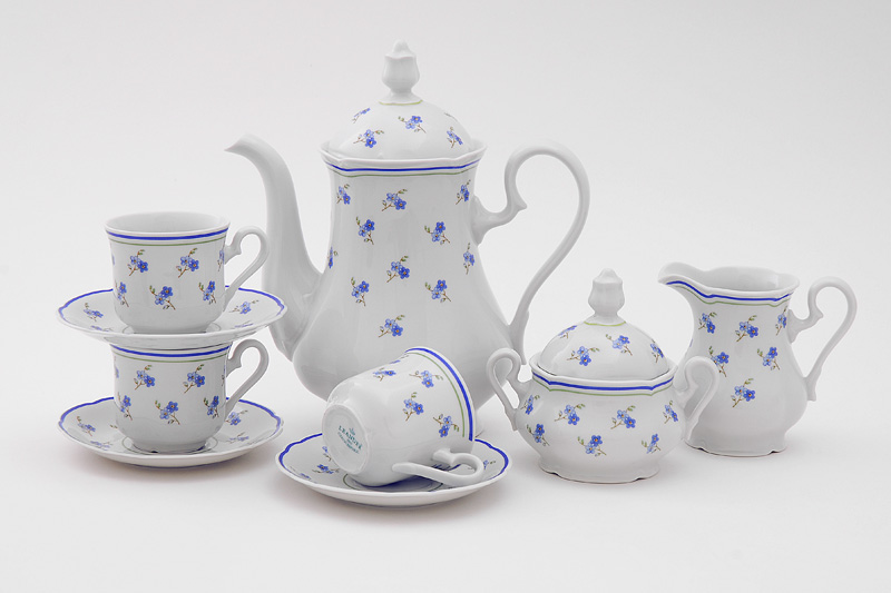 Фото Сервиз кофейный 15 предметов на 6 персон, Форма Мэри-Энн Незабудки