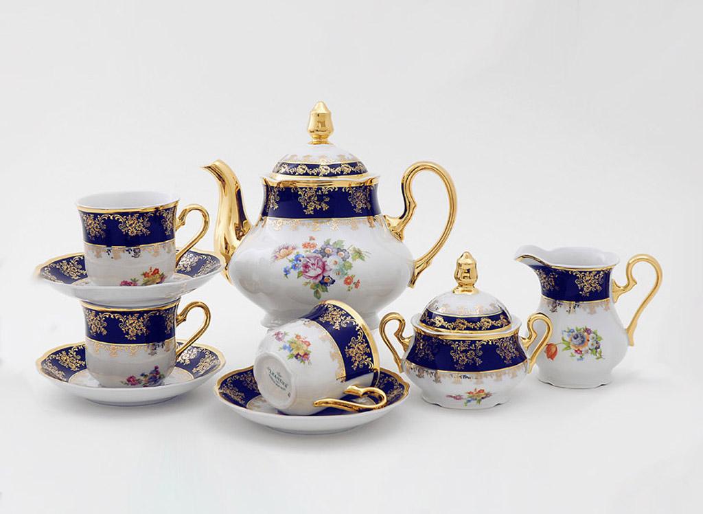 Фото Сервиз чайный 15 предметов на 6 персон, Форма Мэри-Энн Роскошный букет