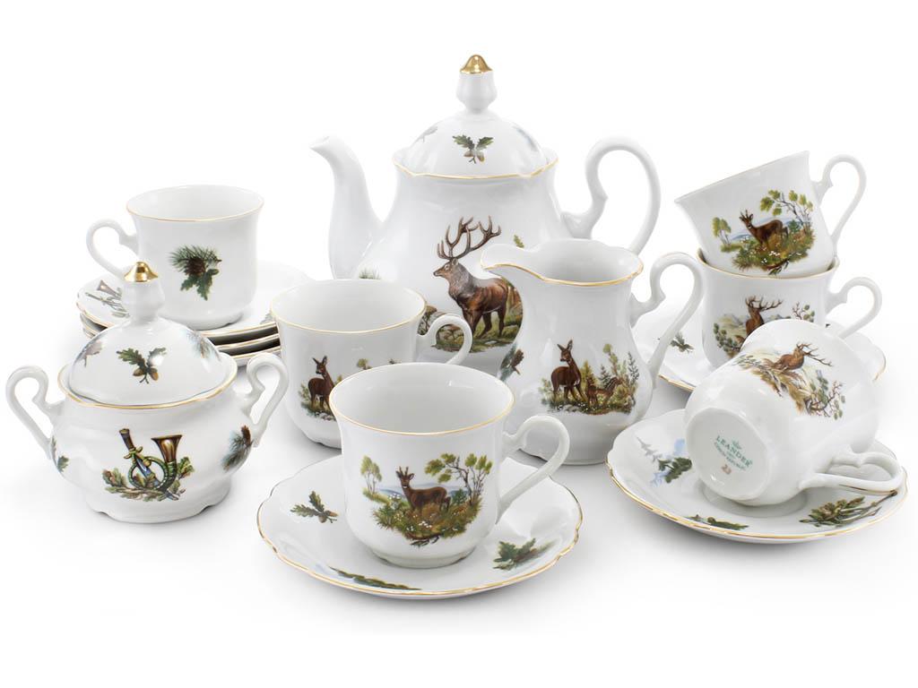 Фото Сервиз чайный 15 предметов на 6 персон, Форма Мэри-Энн Охотничий