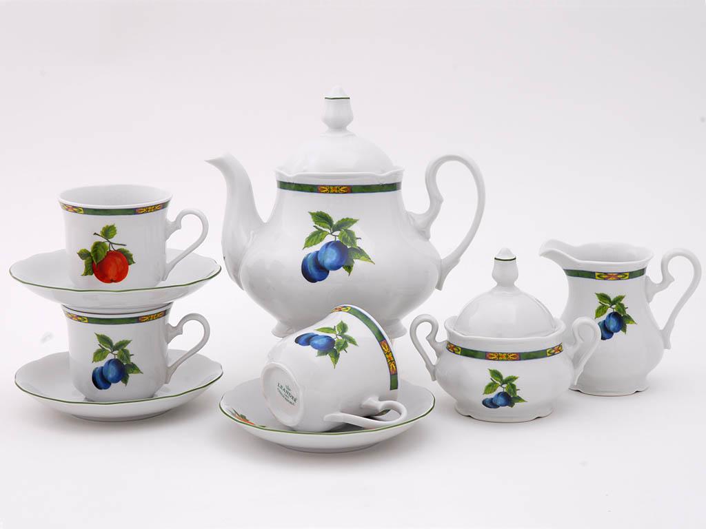 Фото Сервиз чайный 15 предметов на 6 персон, Форма Мэри-Энн Фрукты