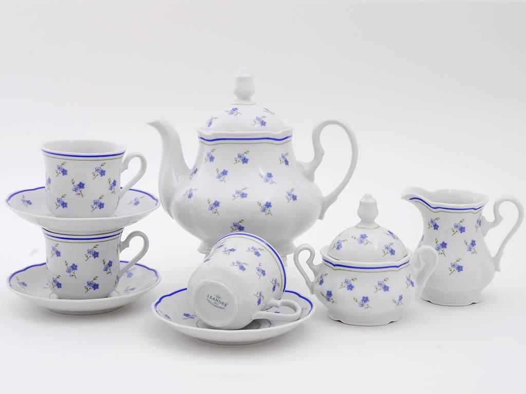 Фото Сервиз чайный 15 предметов на 6 персон, Форма Мэри-Энн Незабудки