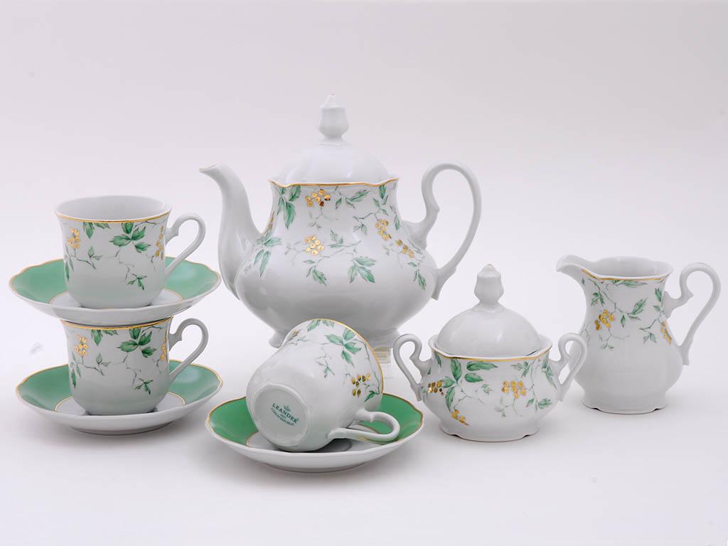 Фото Сервиз чайный 15 предметов на 6 персон, Форма Мэри-Энн Дикий виноград