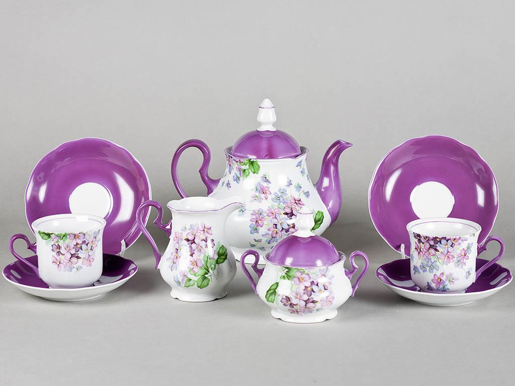 Фото Сервиз чайный 15 предметов на 6 персон, Форма Мэри-Энн Майская сирень