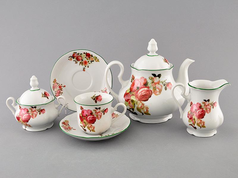 Фото Сервиз чайный 15 предметов на 6 персон, Форма Мэри-Энн Розочки