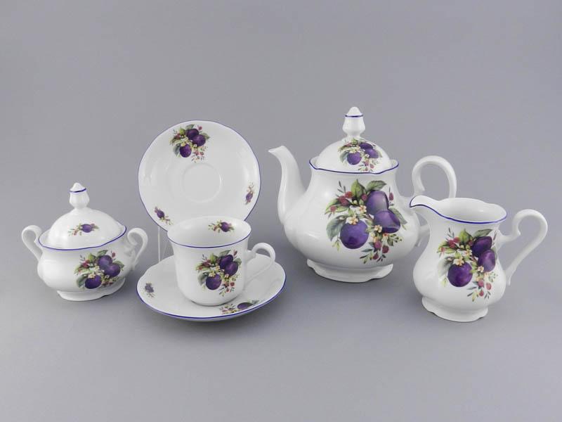 Фото Сервиз чайный 15 предметов на 6 персон, Форма Мэри-Энн Сливы