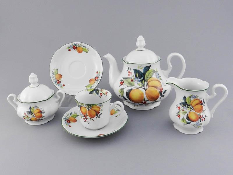 Фото Сервиз чайный 15 предметов на 6 персон, Форма Мэри-Энн Абрикосы