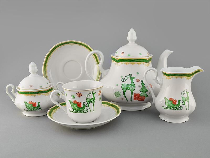 Фото Сервиз чайный 15 предметов на 6 персон, Форма Мэри-Энн Новогодний