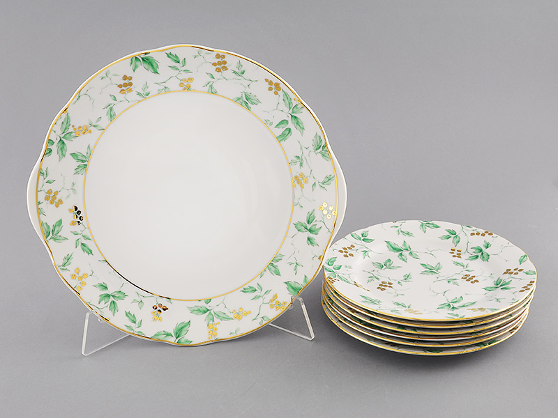 Фото Набор для торта 7 предметов на 6 персон, тарелки 19 см, Форма Мэри-Энн Дикий виноград
