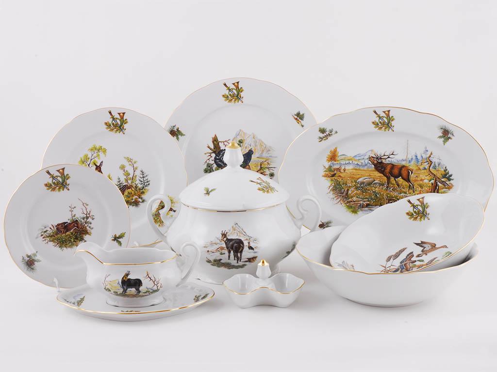 Фото Сервиз чайно-столовый Охотничий 40 предметов на 6 персон, Леандер Форма Мэри-Энн