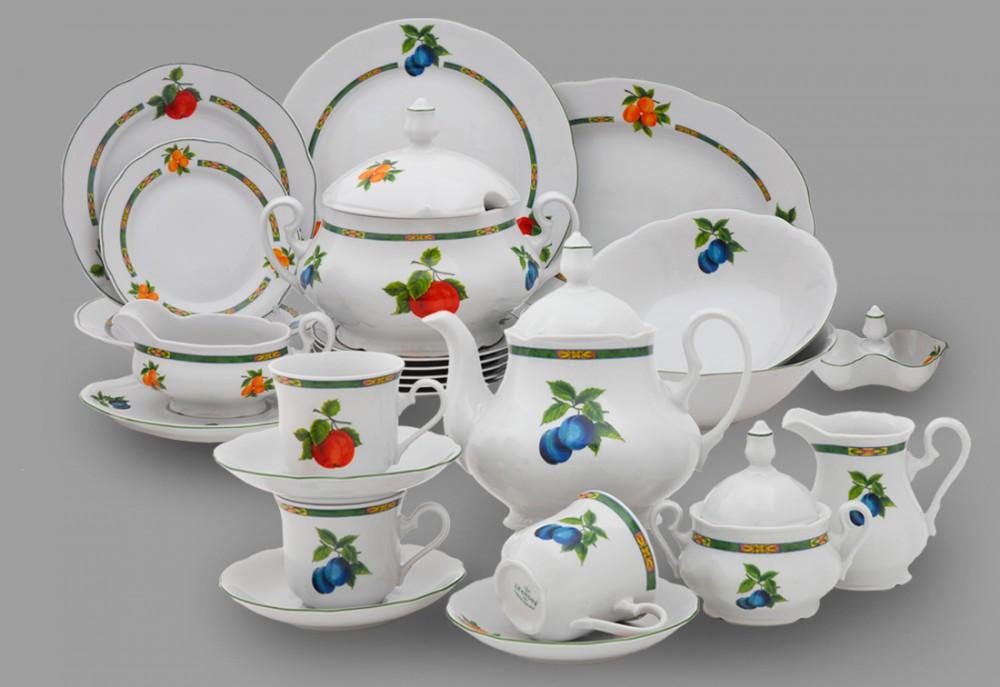 Фото Сервиз чайно-столовый Фрукты 40 предметов на 6 персон, Леандер Форма Мэри-Энн