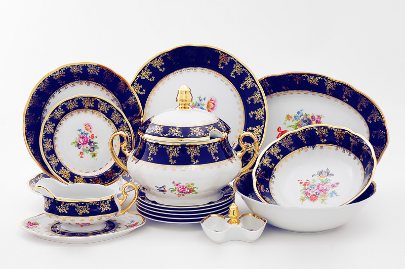 Фото Сервиз столовый 25 предметов на 6 персон, Форма Мэри-Энн Роскошный букет
