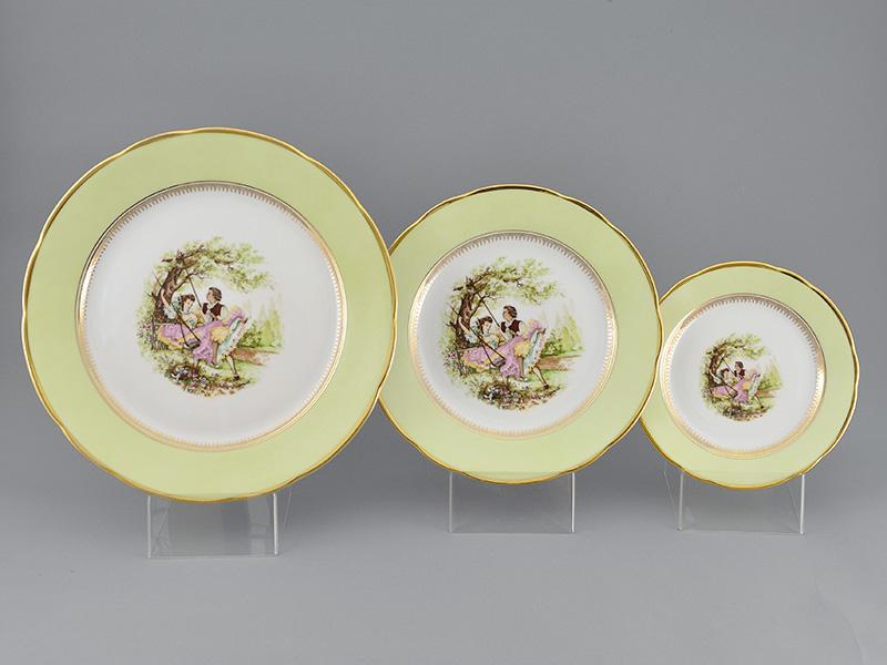 Фото Сервиз столовый 25 предметов на 6 персон, Форма Мэри-Энн Свидание салатовый