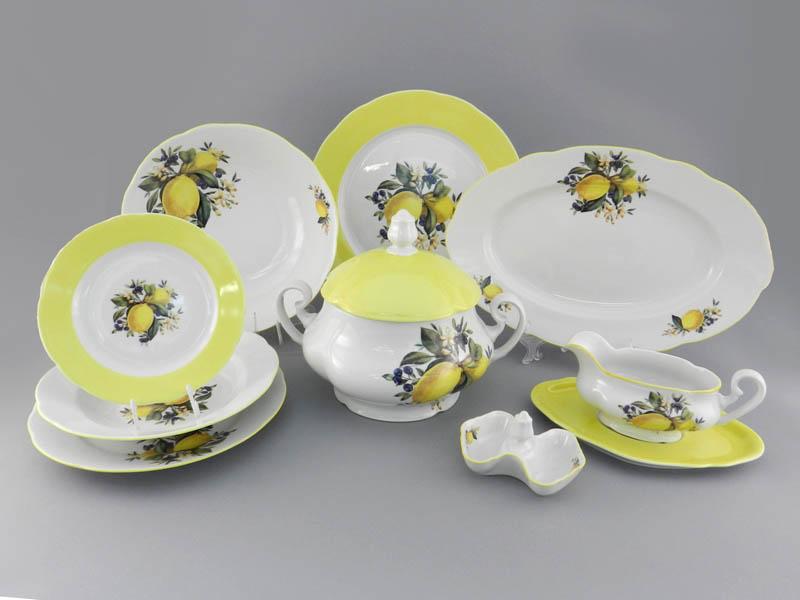 Фото Сервиз столовый 25 предметов на 6 персон, Форма Мэри-Энн Лимонный