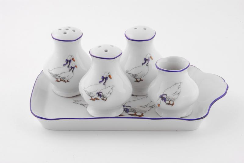 Фото Набор для приправ 5 предметов Форма Мэри-Энн Чешские гуси