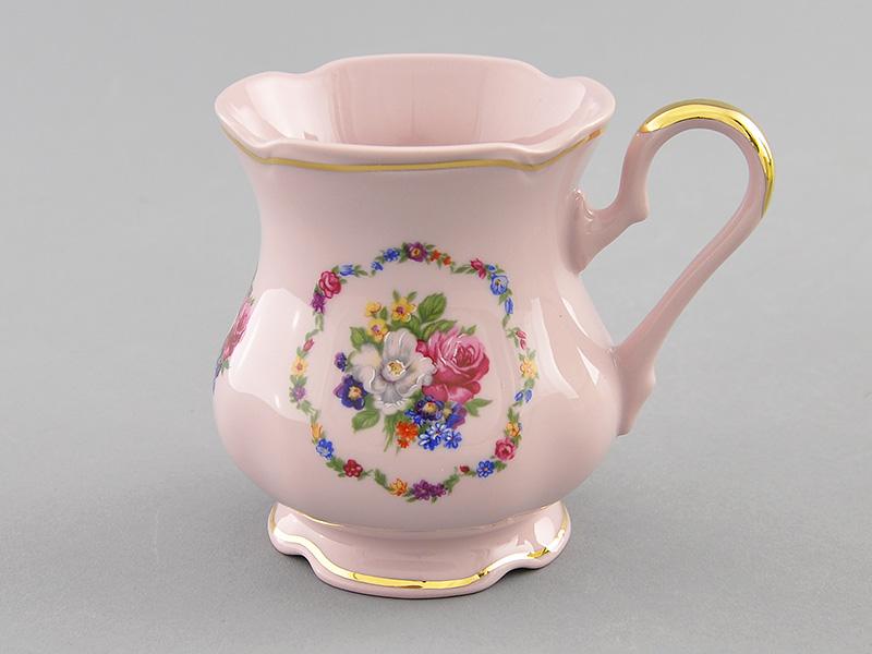 Фото Кружка 250 мл Форма Мэри-Энн Вальс цветов Розовый фарфор