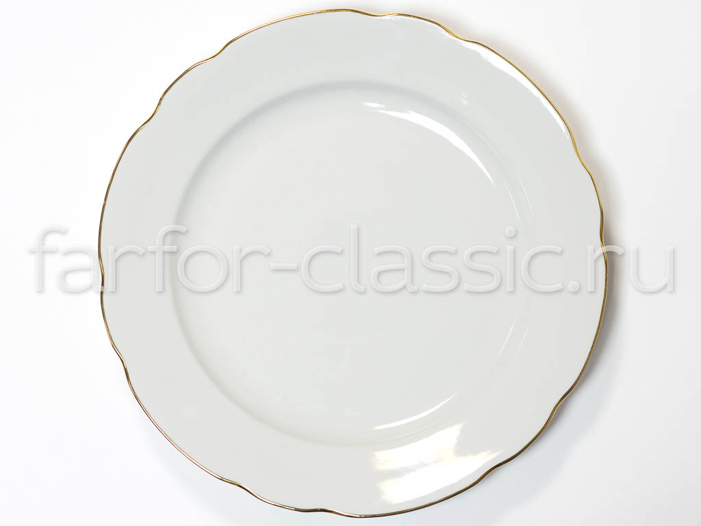 Фото Блюдо круглое 350 мм Вырезной край Отводка золотом