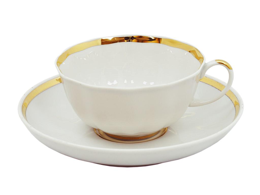 Фото Чашка чайная с блюдцем 200 мл Тюльпан Московский с лентой