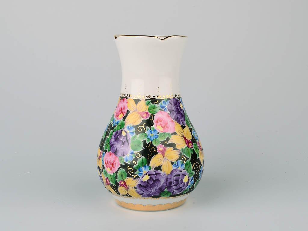 Фото Вазочка для цветов Гжель 15 см Аппетитная Художественная роспись