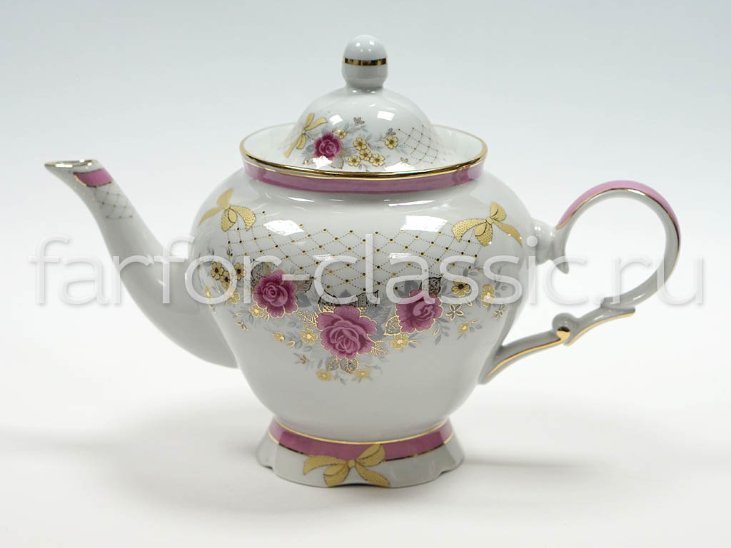 Фото Сервиз чайный Дулево Агат Чайная роза, 15 предметов