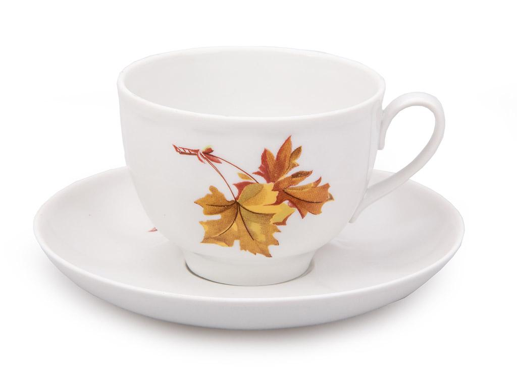 Фото Чашка чайная с блюдцем 250 мл Гранатовый Клен 2с