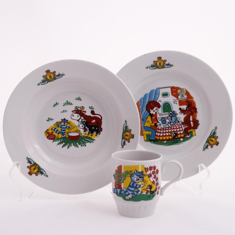 Фото Набор детской посуды Простоквашино - 3 предмета