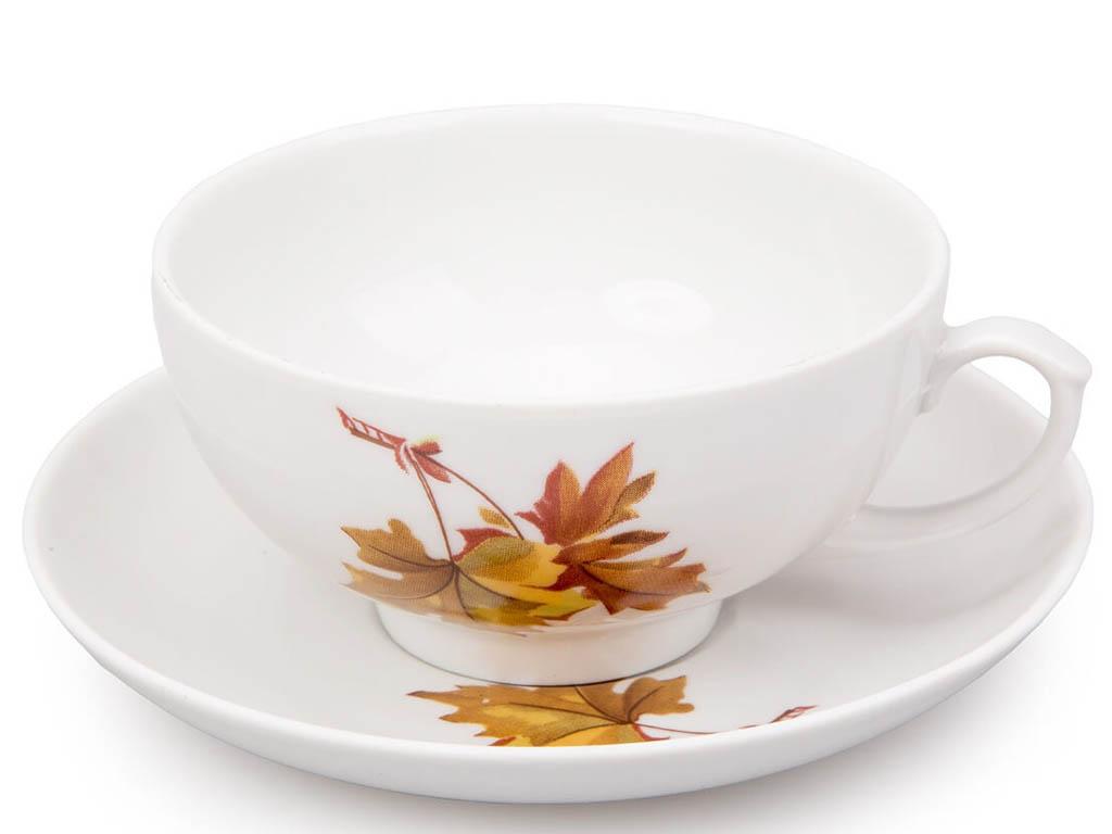 Фото Чашка чайная с блюдцем 220 мл Рубин Клен