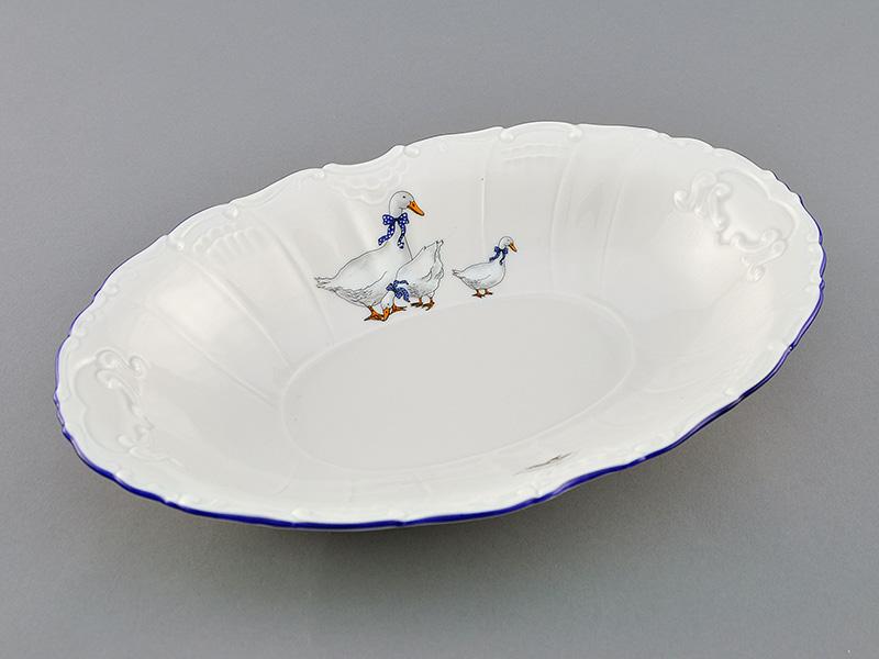 Фото Блюдо овальное 26 см Форма Мэри-Энн Чешские гуси