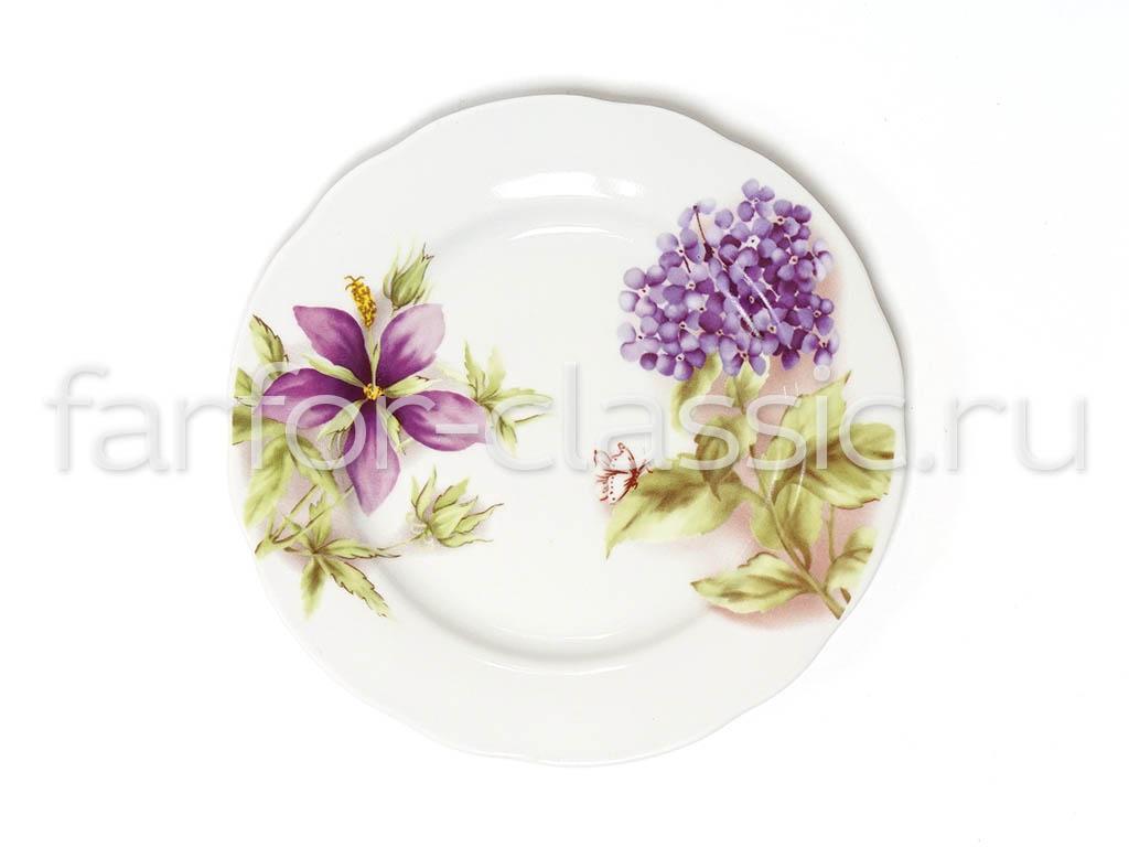 Фото Тарелка мелкая 200 мм Вырезной край Альпийские цветы