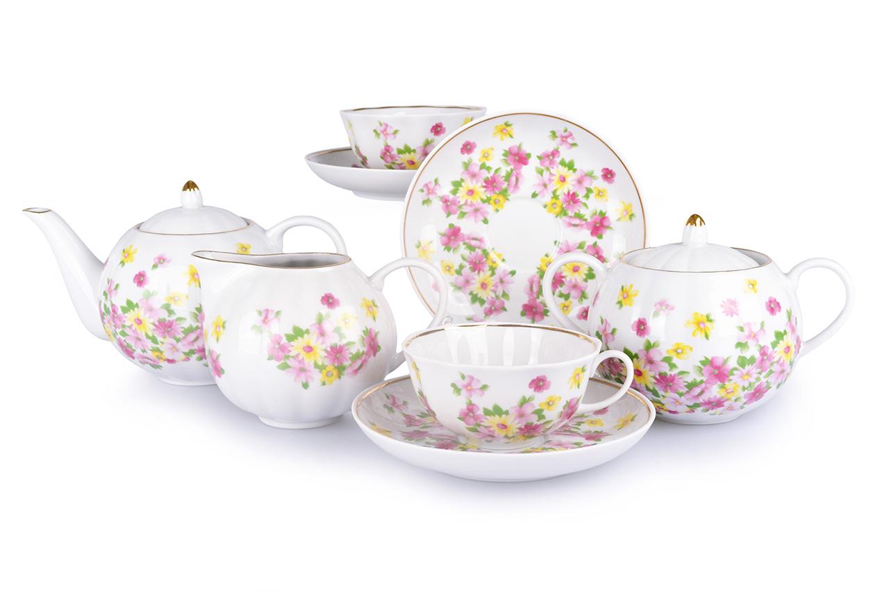 Фото Сервиз чайный Дулево Тюльпан Летний, 15 предметов