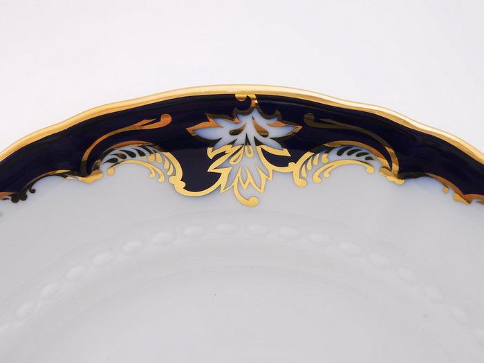 Фото Тарелка для торта 27 см Форма Соната Виноград кобальт
