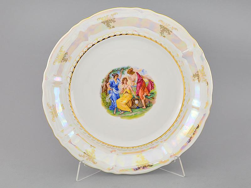 Фото Блюдо Леандер круглое мелкое 32 см Форма Соната Мадонна перламутр